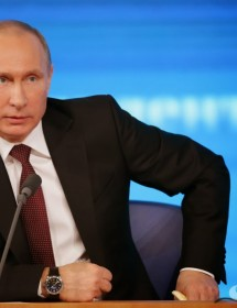 В.В. Путин на прес конференции
