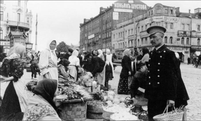 Торговые ряды в Подмосковье, начало 20 века