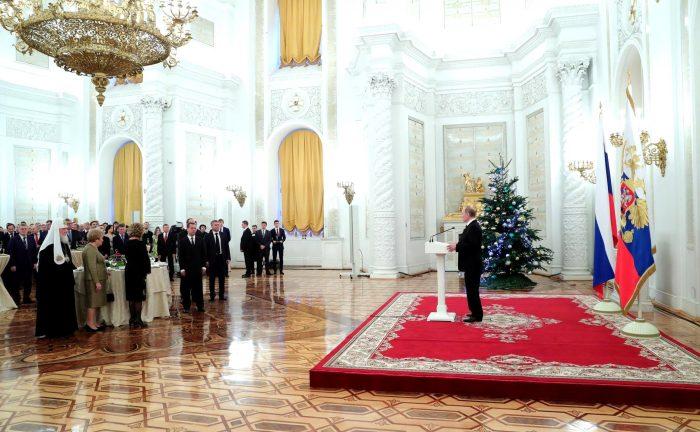 Новогодний приём в кремле