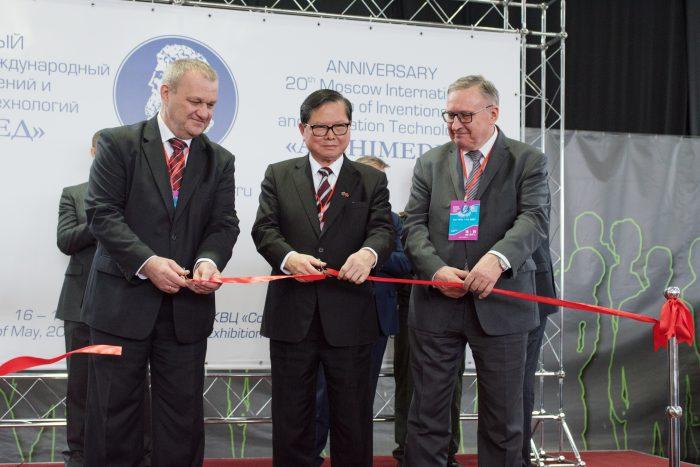 Церемония открытия Жамойдик М.В., Ву Коу Чен, Кшиштоф Кордась