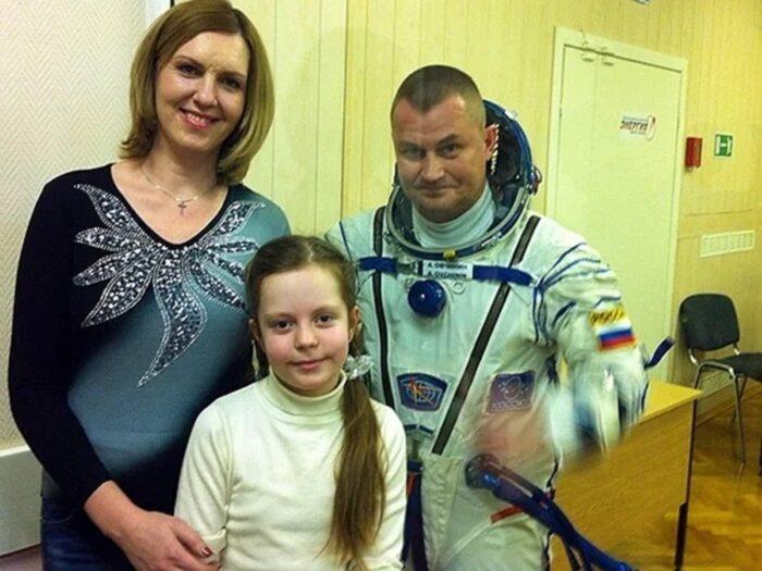 Семья Овчинина провожает в полет